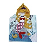 Polly House Children Hooded Beach Towel, Shower Bath Robes, Swim coverup, Water Activities Towel Boy/Girls, Soft Strong Absorbent (04)