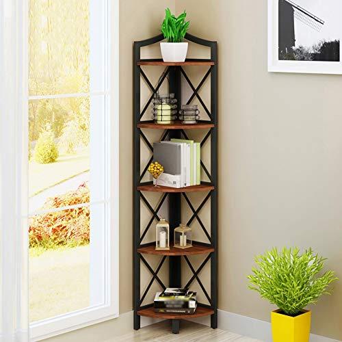 Simple Creative Flower Racks Floor Standing Bedroom Bookshelf Living Room Corner Rack 4 Colors Optional (Color : Color-2) by Corner Shelves (Image #2)