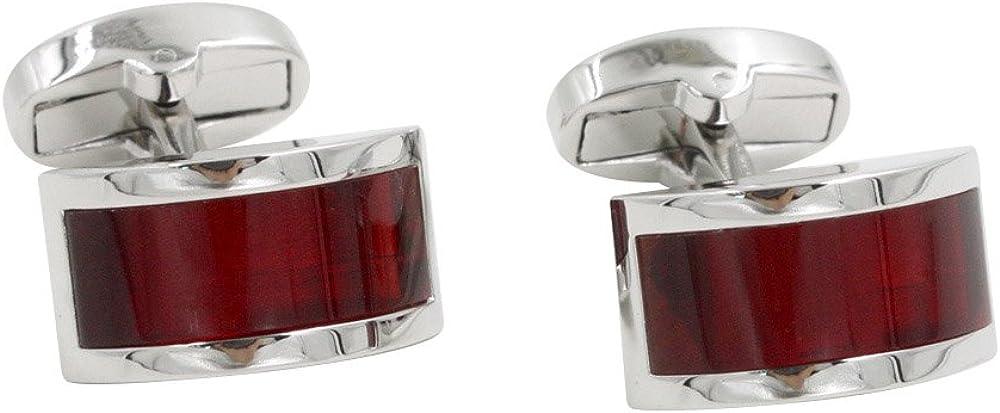 Ruby Stone Red Cufflinks   Wedding Anniversary Gift   Cuff Links Gift for Men   40th Ruby Anniversary Husband Present