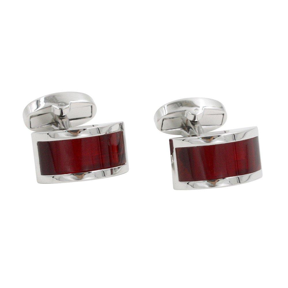 Ruby Stone Red Cufflinks | Wedding Anniversary Gift | Cuff Links Gift for Men | 5 Yr Warranty