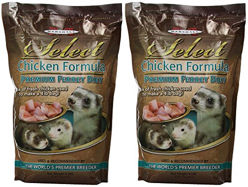 (2 Pack) Marshall Pet Products Select Chicken Formula Premium Ferret Diet