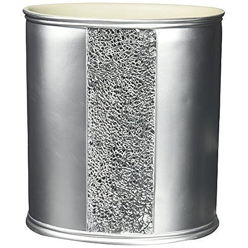 rhinestone bathroom accessories. Popular Bath  Sinatra Silver Waste Basket Rhinestone Bathroom Accessories Amazon com