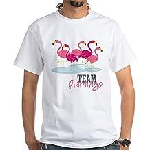 CafePress Team Flamingo - 100% Cotton T-Shirt, White