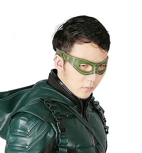 XCOSER New V3 G.A. Hero Mask Oliver Queen Cosplay Black Eye Patch for Halloween