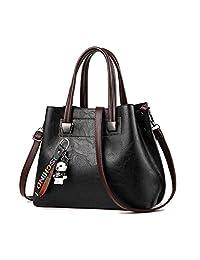 Tecing Womens Handbag Purses Leather Shoulder Bag Ladies Fashion Top Handle Bag