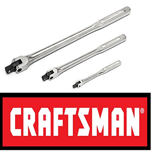 Craftsman 3 pc piece flex handle breaker bar set 1/4