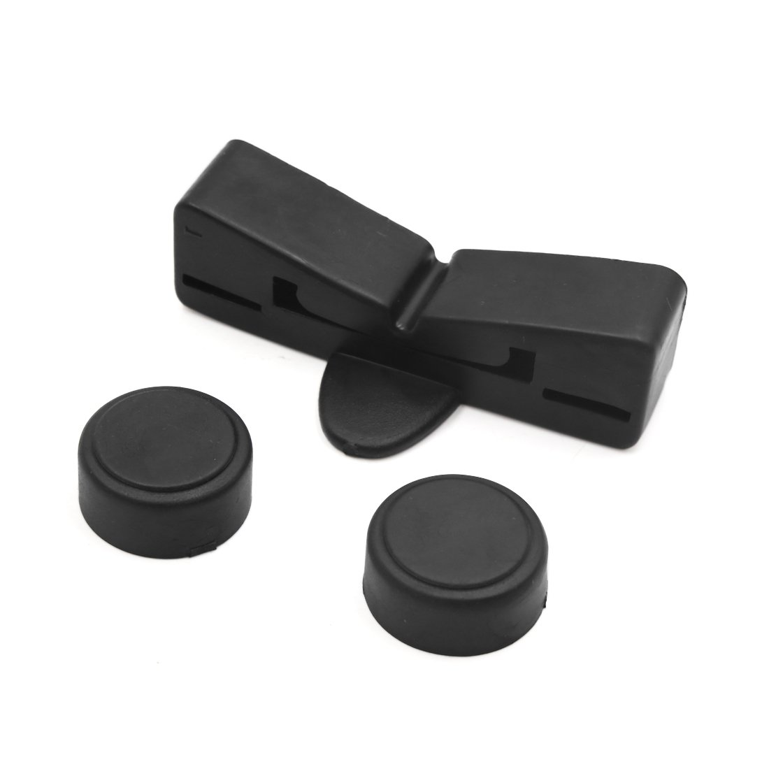 Sourcingmap Black Rubber Motorcycle Scooter Gas Oil Fuel Tank Cushion Holder Set for CG125 a18041100ux0159