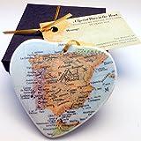 Spain Heart Christmas Ornament