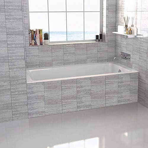 Fine Fixtures Tile-In White Soaking Bathtub