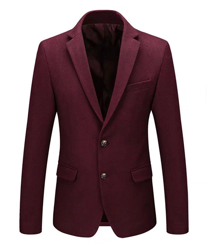 ClairSue Mens Blazer Business Wool Blend Tweed Casual Suit Jacket Slim Fit Smart Formal Dinner Coat Men