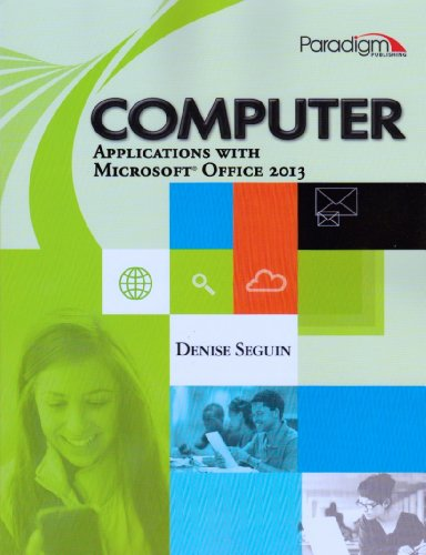 Computer Applications with Microsoft Office 2013