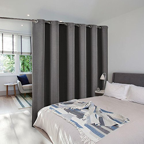 room divider curtain screen partitions nicetown full length room partition blackout curtain screen with grommet top one panel10ft wide x 9ft longgrey