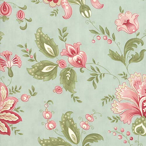 Moda Porcelain 3 Sisters Mist Jacobean Floral ()