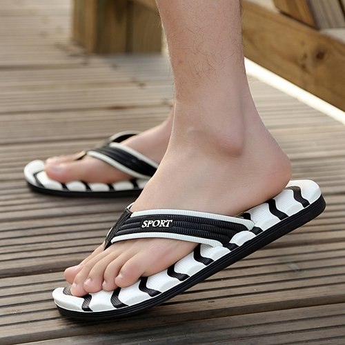 pantofole slip flops spiaggia uomini dimensioni da quotidiano uomini flops flip MONAcwe Flip ciabattine uomini grandi Bianco scarpe bagno estate pantofole di Non sandali Pf8ngxqwO