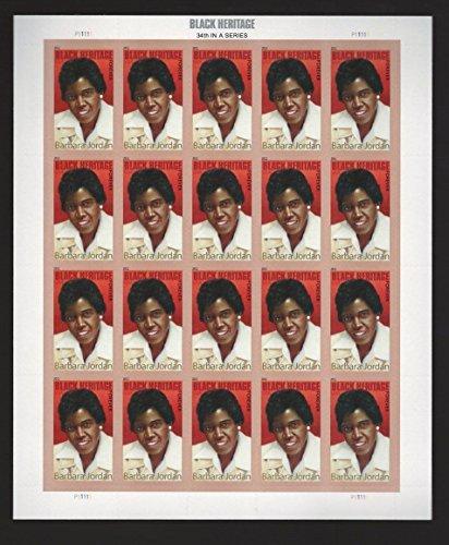 Barbara Jordan Black Heritage Full Sheet of 20 x Forever us Postage Stamps