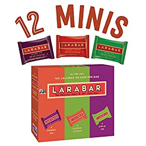Larabar Minis Gluten Free Bar Variety Pack, Cherry Pie/Apple Pie/Cashew Cookie, .78 oz Bars (12 Count)