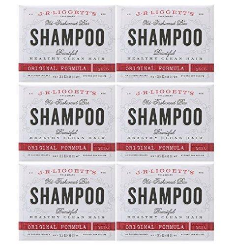 J.R. LIGGETT'S SHAMP BAR,ORIGINAL, 3.5 OZ 6PK Bar Shampoo Original Formula