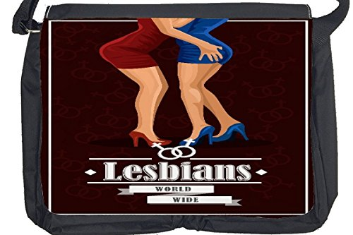Borsa Tracolla Felicità Matrimonio Lesbiche Stampato