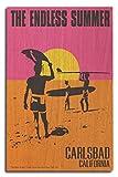 Carlsbad, California - The Endless Summer - Original Movie Poster (10x15 Wood Wall Sign, Wall Decor Ready to Hang)