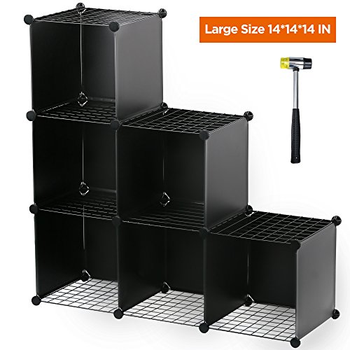 Famistar Bookcase Shelf Oragnizer 3-Tier Plastic DIY Cube Storage Closet Portable Display Cabinet Review