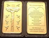 1 oz. Troy Ounce Ten Commandments Jesus Gold Bar