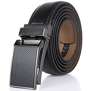 Marino Avenue Men's Genuine Leather Ratchet Dress Belt with Linxx Buckle – Gift Box