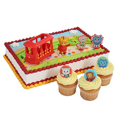 Daniel Tiger Officially Licensed Cake Topper and 24 Cupcake Topper Rings]()
