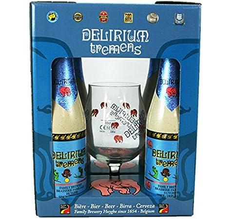 Brasserie Huyghe - Estuche Delirium Tremens 2*75 + 1 Vaso: Amazon.es: Alimentación y bebidas