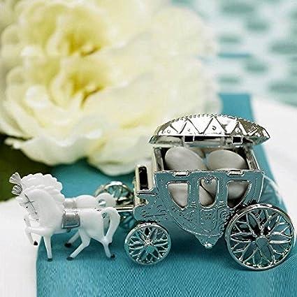 Amazon Balsacircle 12 Pcs Silver Cinderella Coach Wedding Favor