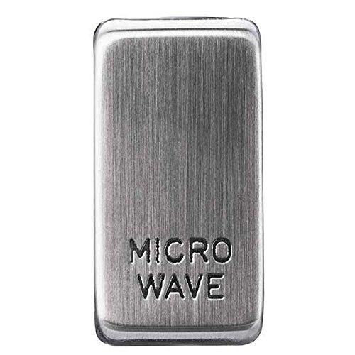 BG Electrical GRMWBS Nexus Grid Brushed Steel Rocker Marked MICROWAVE