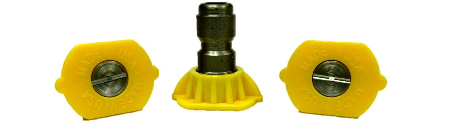 Pack of 3 American Hydro Clean 3PK15040-AHC Nozzle Kit 4.0 QC 4.5 gal Maximum Flow Rate 15 Degree