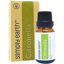 Citronella Essential Oil (Ceylon) by Simply Earth - 15 ml, 100% Pure Therapeutic Grade