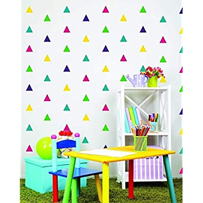 Triangle Wall Decals - Triangle Peel and stick Decals - Nursery Wall Decals - Design pack: Handmade