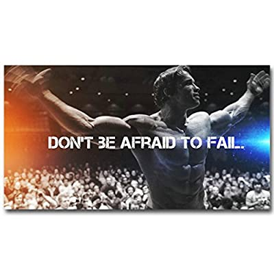 Arnold Schwarzenegger Bodybuilding Motivational Quote Fitness Inspirational Picture for Room Wall Decor
