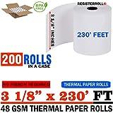 3-1/8 x 230-Feet, 50 Count, White | 200 Rolls (SPR25346) | Money Saver Value Pack | from RegisterRoll