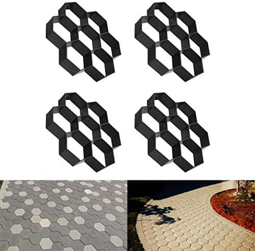 舗装型石シェイパー ガーデン舗装用 金型 約32×31×5.5cm 4個入り