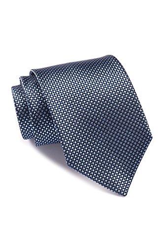 Boss Hugo Boss Micro Check Italian Silk Tie, Blue (Hugo Boss Silk)