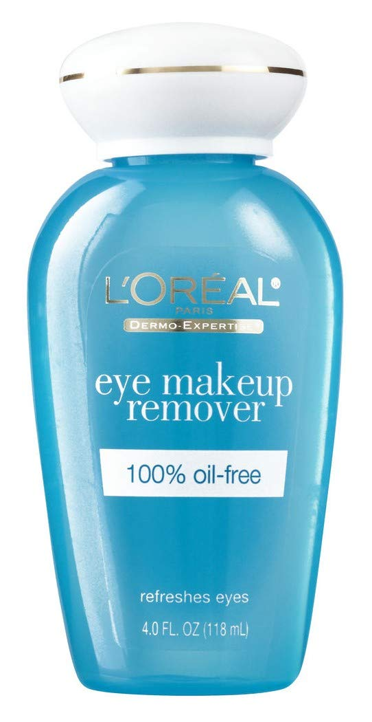 Loreal Dermo-Expertise Eye Makeup Remover 4 Ounce 100% Oil-Free (118ml) (Pack of 6)