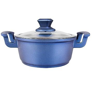 ZHANGAIZHEN-naiguo Olla De Leche Cazos para Leche Sartenes Y Ollas Cacerola Menaje De Cocina Hogar Y Cocina Aleación De Aluminio Pan Antiadherente Azul ...