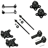Front & Rear Sway Bar Links Ball Joints Inner Outer Tie Rods Set of 10 for Isuzu Rodeo Axiom