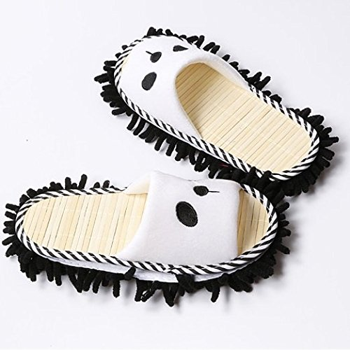 Kangkang @ Lovely Animal Microfiber Magic Cleaning Slippers, Panda, Feet Length 26cm Lazy Man Slippers Can Wipe Slippers Slippers Floor