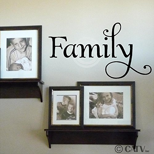 Family Vinyl Lettering Wall Decal Sticker (12.5