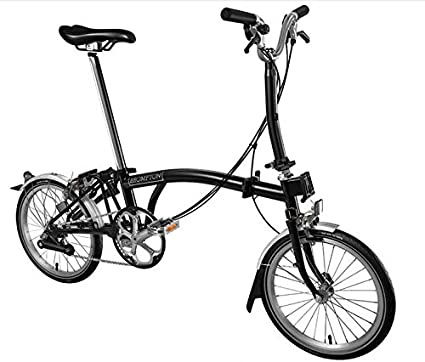 BROMPTON M6L 2017 - Bicicleta plegable, color negro: Amazon.es ...