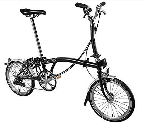 BROMPTON M6L 2017 - Bicicleta plegable, color negro: Amazon.es ...