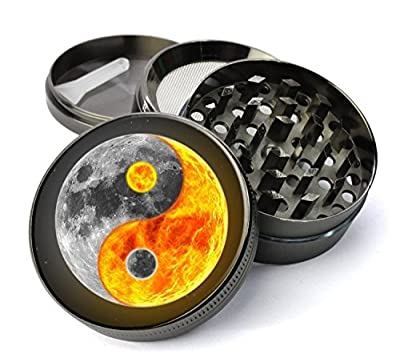 Spiritually Inspired Extra Large Metal 5 Piece Spice Tobacco Herb Grinder with Pollen/Keef Catcher