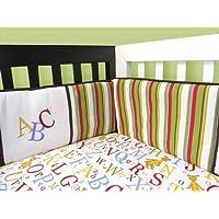 Trend Lab Dr Seuss 4 Piece Crib Bumper Set, ABC