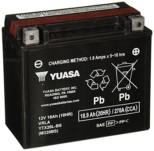 Speed Convertible 6 - Yuasa YUAM320BS YTX20L-BS Battery