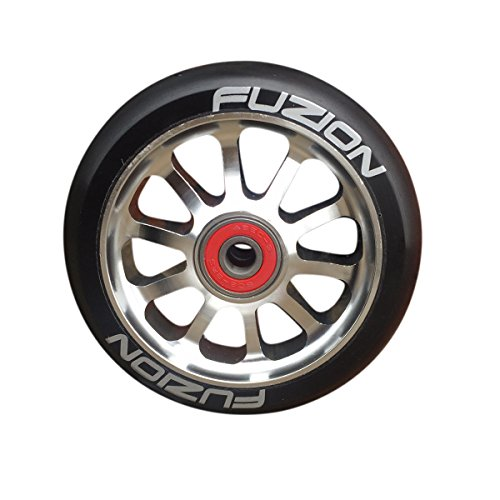 fuzion-10-spoke-metal-core-100mm-pro-scooter-wheel-with-abec-9-bearings-silver-black