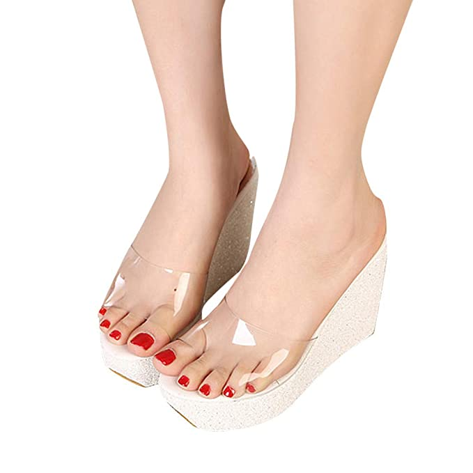 78a717d0da9 Sandalias Mujer Verano 2019 con Plataforma ❤ Absolute Zapatos Gruesos Mujer  Moda Ocio Cuñas Zapatos
