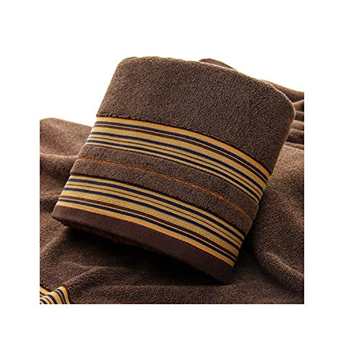 1pcs Brown Bath Towels for Adults Kids Cotton Super Soft Soft Jacquard Sheared Striped Hand Face Beach Towel Absorbent Bathroom Product